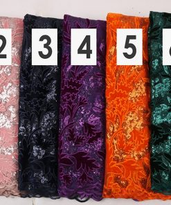 Floral Velvet Sample Lace. 5 Yards/Lot