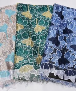 New Floral Net Sample Lace with Stones. 5 Yards/Lot