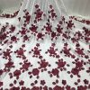 Floral Organza Lace Fabric. 5 Yards/Lot