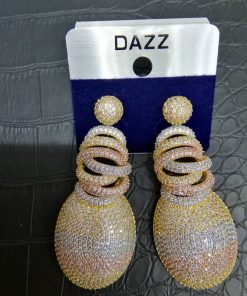 Dazz Zircon Tear Drop Earrings.